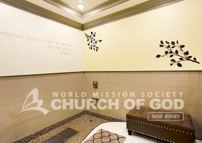 World Mission Society Church of God, Belleville, WMSCOG, New Jersey, Baptism room