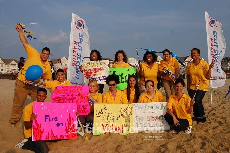 War at the Shore Triathlon Cheering