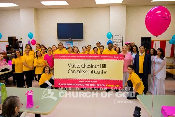 Visiting Seniors at Chestnut Hill Convalescent Center